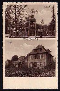Ansichtskarte Uelsen Grafschaft Bentheim Schule 1939 Kriegerdenkmal