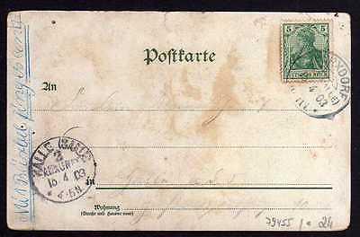 Ansichtskarte Cossdorf Bez. Halle Post Gasthof Kronprinz 1903 Windmühle Mole 1