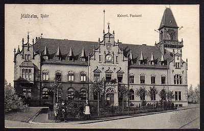 Ansichtskarte Mühlheim Ruhr Kaiserliches Postamt Vollbild 1908 Bahnpost