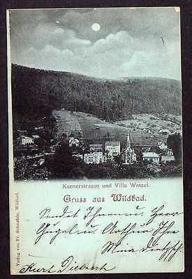 Ansichtskarte Wildbad Kernerstrasse Villa Wetzel 1899