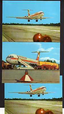 3 Ansichtskarte Berlin Interflug IL 62 Verkehrsflugzeug beim betanken Minol