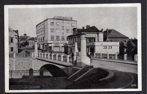 Ansichtskarte Jermer Jaromer Sporttelna Brücke Straße Feldpost 1942