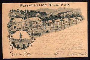 Ansichtskarte Rath Düsseldorf Restauration Herm. Fink 1896 Vorläufer