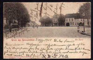 Ansichtskarte Grevesmühlen 1902 Am Markt
