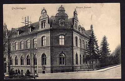 Ansichtskarte Greifenhagen Pommern Kaiserliches Postamt Vollbild um 1915