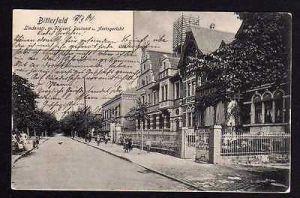 Ansichtskarte Bitterfeld Lindenstraße Kaiserl. Postamt Amtsgericht 1904