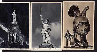 3 Ansichtskarte Teutoburger Wald Hermanns Denkmal Erbauer Ernst von Bandel