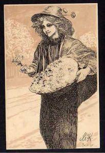 Ansichtskarte Leipzig Margeritentag 1911 Margueritentag Max Klinger Frau