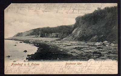 Ansichtskarte Niendorf Ostsee Brodtener Ufer 1904
