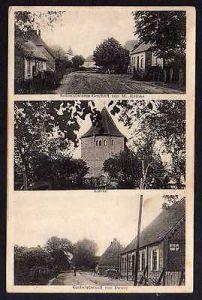 Ansichtskarte Groß-Tessin bei Neukloster 1918 Kolonialwaren Kirche Gastwirtschaft Düw