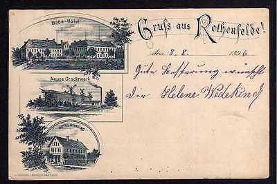 Ansichtskarte Bad Rothenfelde Osnabrück 1896 Vorläufer Hotel Reinking Gradirwerk Bade