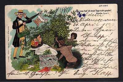 Ansichtskarte Goethe Faust Künstlerkarte Litho 1899 Verlag Bruno Bürger & Ottilie <p