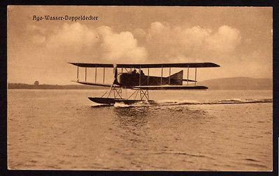 Ansichtskarte Posen Ago Wasser Doppeldecker Flieger Ersatz