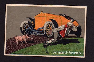 Ansichtskarte Reklame Coninental Pneumatic Hannover 1916