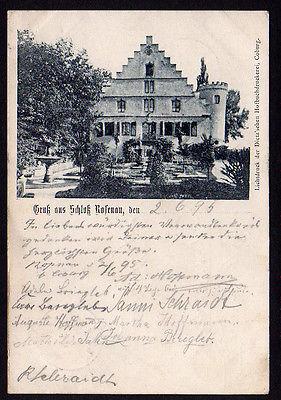 Ansichtskarte Schloß Rosenau Oeslau 1895