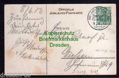 Ansichtskarte Gießen Privatganzsache 100 Jahrfeier 1913 Infanterie Regiment Kaiser W 1