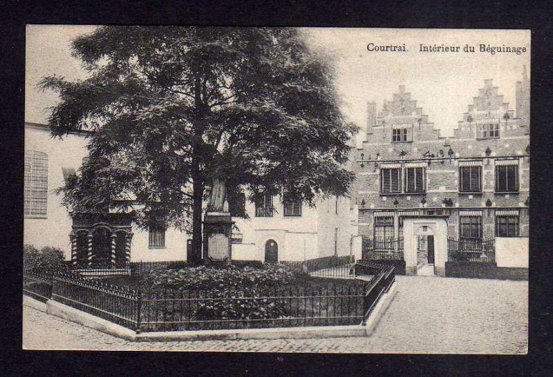 Ansichtskarte Kortrijk Courtrai Belgien 1914 Interieur du Beguinage Feldpost