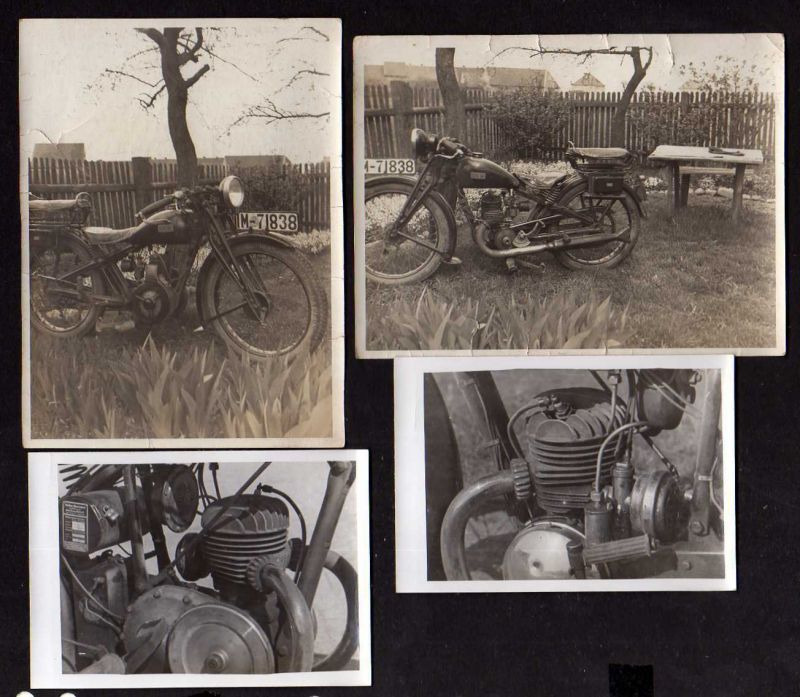 4 Fotos DKW Motorrad 1935