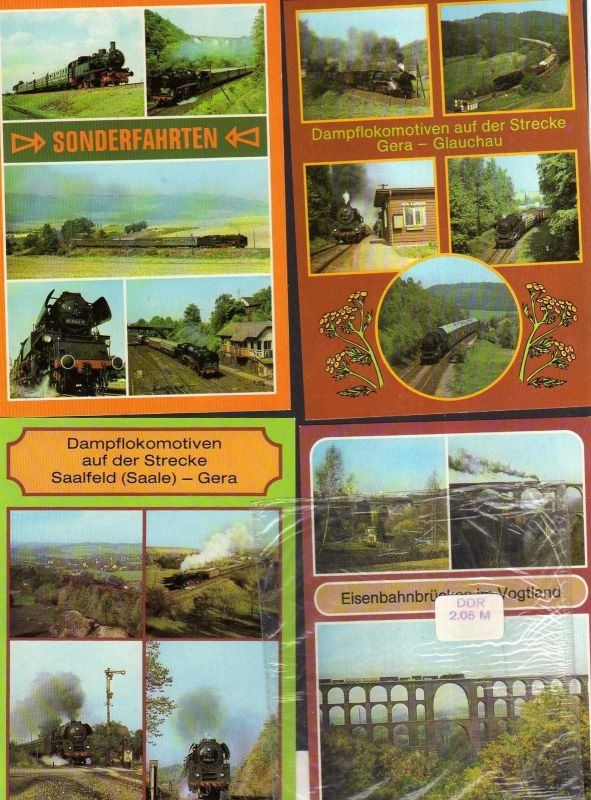 10 Ansichtskarte DDR Eisenbahn Eisenbahnknoten Gera P3023 Schmalspurbahn Karlex  VT