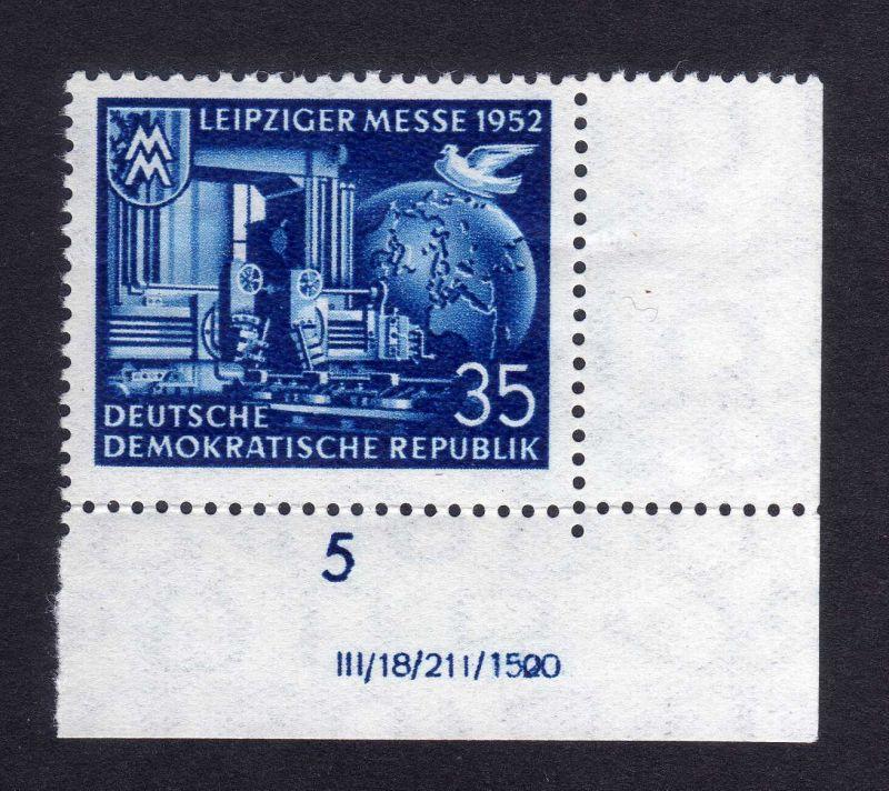 DDR 316 Leipziger Messe DV ** waag. gefalten nicht angetrennt