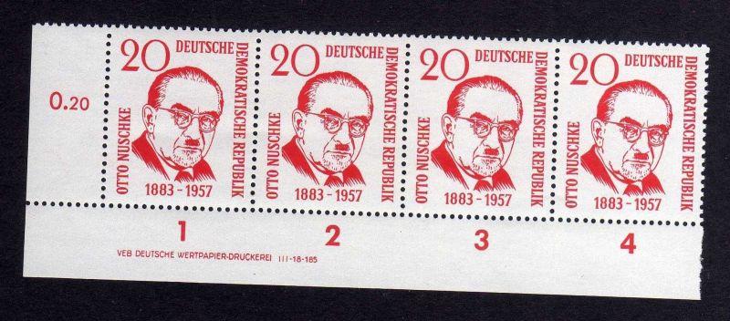 DDR 671 Otto Nuschke DV ** ungefalten nicht angetrennt