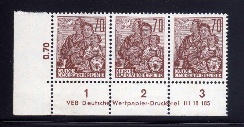 DDR 585 B Dauerserie DV ** ungefalten nicht angetrennt
