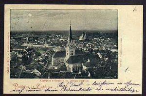 Ansichtskarte Ljubljana Laibach 1898z Grada s sv. Jakopa cerkvijo. Mondscheinkarte