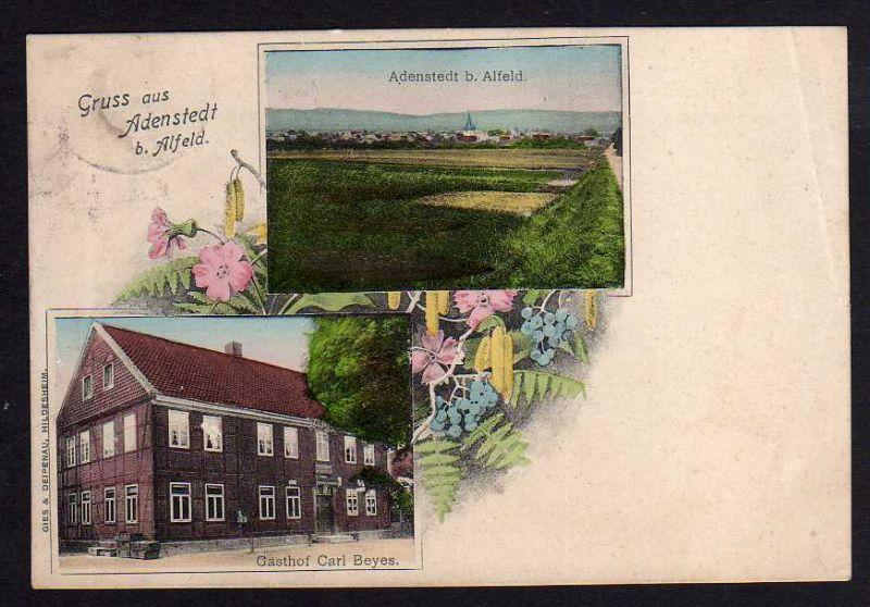 Ansichtskarte Adenstedt bei Alfeld Gasthof Carl Beyes 1911