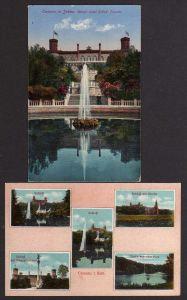 2 Ansichtskarte Camenz in Schlesien Königl. prinzl. Schloss Siegesdenkmal