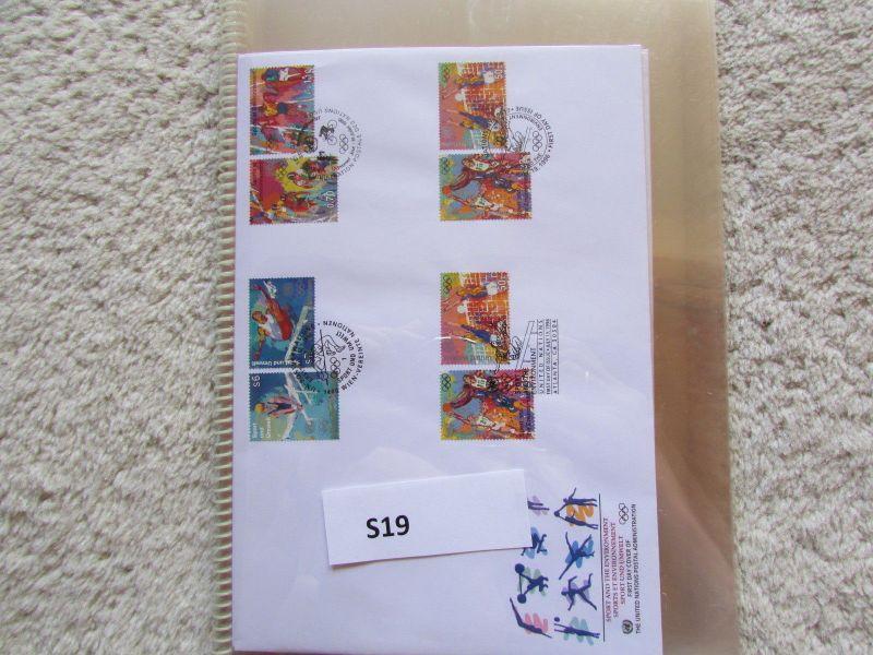 S19 UNO Kleinbogen FDC New York Genf Wien Sport 1996 Gefährdete Arten 1996 1995