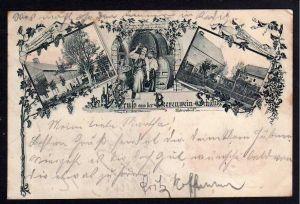 Ansichtskarte Ebersdorf bei Löbau 1899 Beerenwein Schänke Gasthaus