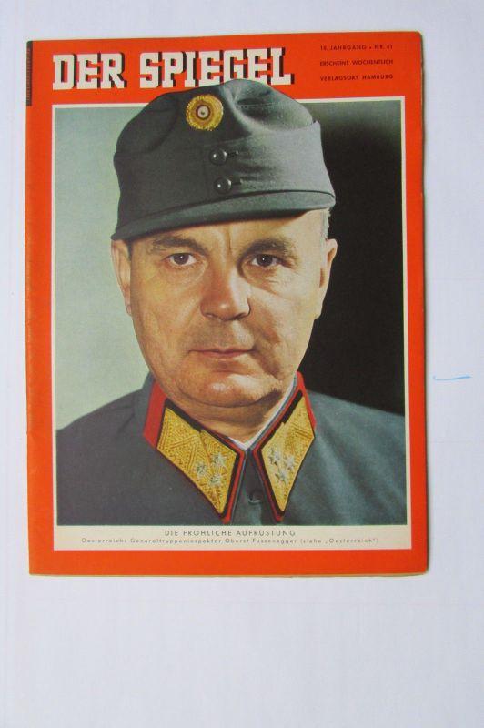 Der Spiegel 1956 10. Jahrgang Nr. 41 Österreich Oberst Fussenegger Die fröhliche