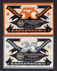 Notgeld Dahlenburg 2 Scheine 1920