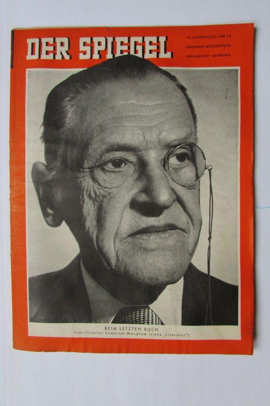 Der Spiegel 1956 10. Jahrgang Nr. 15 Beim letzten Buch Schriftsteller Somerset M
