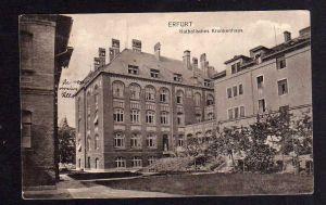 Ansichtskarte Erfurt Katholisches Krankenhaus 1917