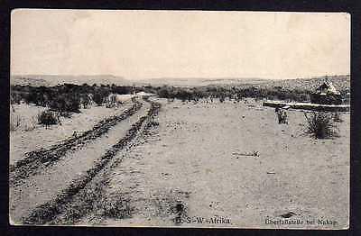 Ansichtskarte Warmbad 1907 DSW Überfallstelle bei Nakap Verlag Hubrich Swakopmund