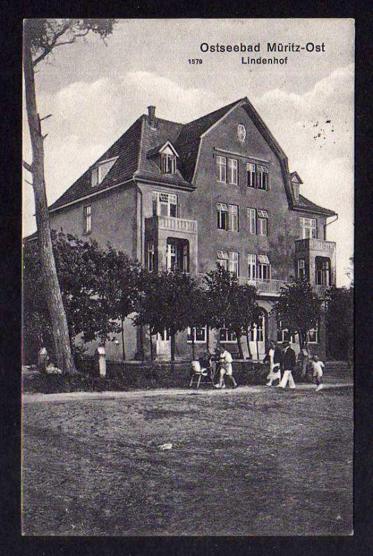 Ansichtskarte Ostseebad Müritz Ost Lindenhof 1927