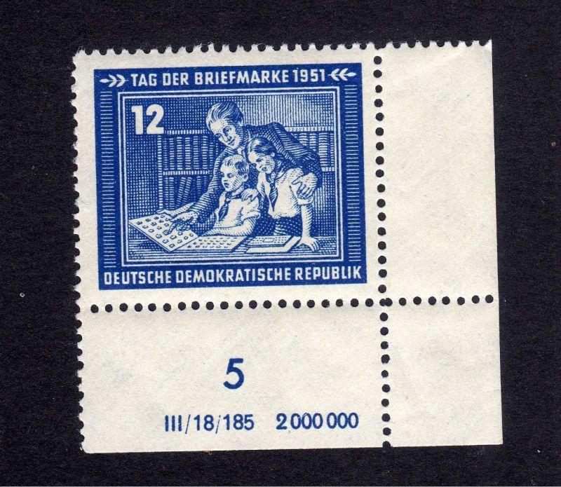 DDR 295 Tag der Briefmarke ** DZ ungefalten, nicht angetrennt Zähnungsvarian