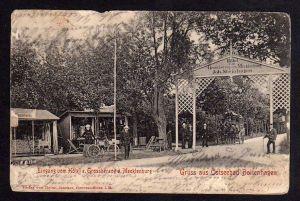 Ansichtskarte Ostseebad Boltenhagen Eingang Hotel zum Grossherzog v. Mecklenburg 1905