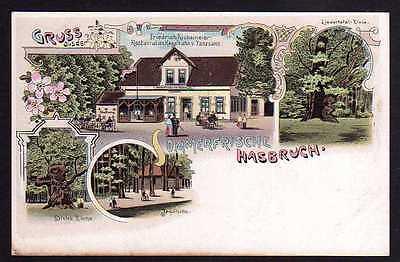 Ansichtskarte Hasbruch Litho um 1900 Restaurant Kegelbahn Jagdhütte Liedertafel Eiche