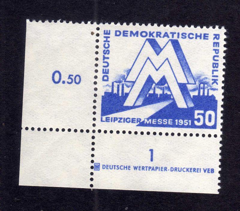 DDR 282 Leipziger Messe ** DZ ungefalten, nicht angetrennt Variante Wolf a a