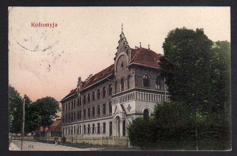 Ansichtskarte Kolomyja Коломия Ukraine 1906 Gebäude Schule ???