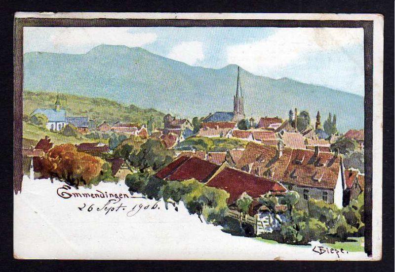 Ansichtskarte Emmendingen Biese Künstlerkarte 1906