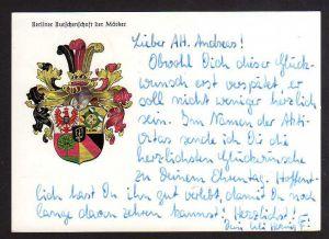 Ansichtskarte Berlin  Burschenschaft der Märker Studentika