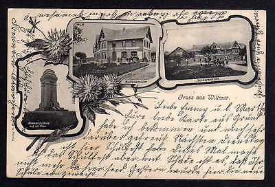 Ansichtskarte Wittmar 1908 Bismarcksäule Asse Geschäftshaus Gasthaus ???