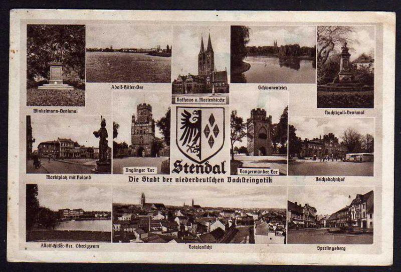 Ansichtskarte Stendal Reichsbahnhof Sperlingsberg Roland ...