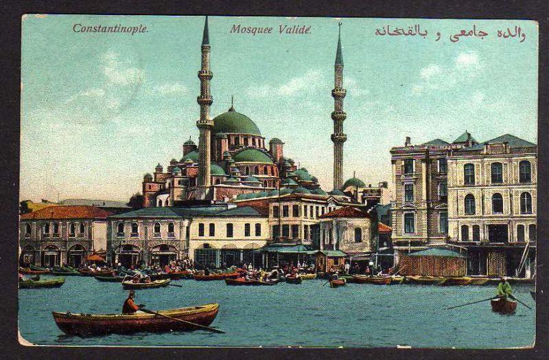 Ansichtskarte Constantinopel 1912 Bausektion der orient. Bahn Mosquee Valide