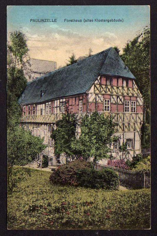 Ansichtskarte Kloster Paulinzella Paulinzelle Forsthaus Gasthaus Menger