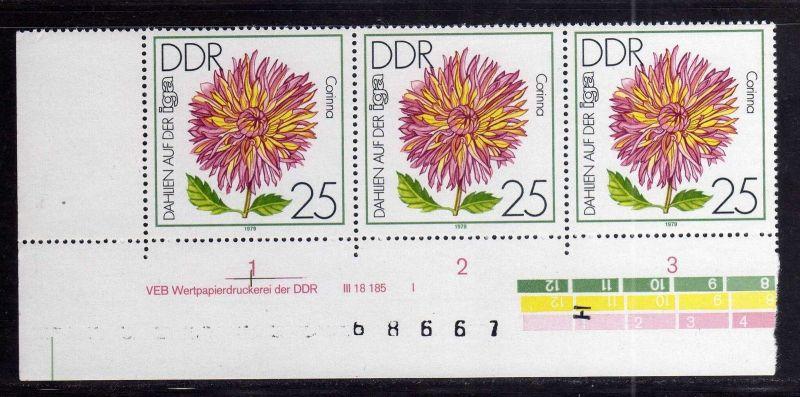 DDR 1979 2437 DV I **  IGA Erfurt Dahlien 25 Pfg.