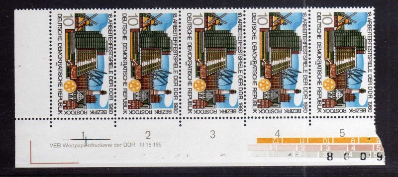 DDR 1980 2514 DV ** Arbeiterfestspiele der DDR Bezirk Rostock